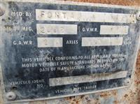 2002 Fontaine  FLAT BED 48' ACIER