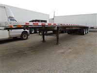 Used 2000Eastaluminum tri axle flatbed for Sale