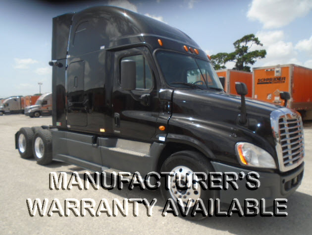 USED 2014 FREIGHTLINER CASCADIA SLEEPER TRUCK #130596