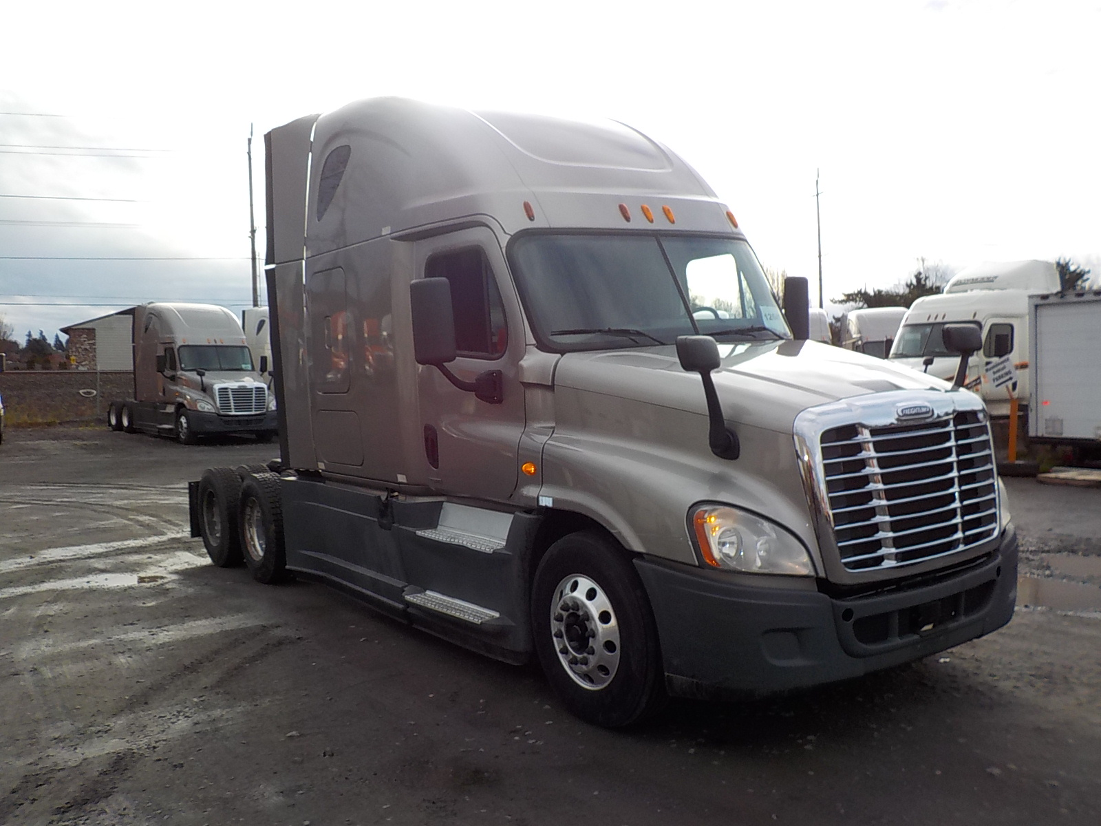 USED 2014 FREIGHTLINER CASCADIA SLEEPER TRUCK #85076