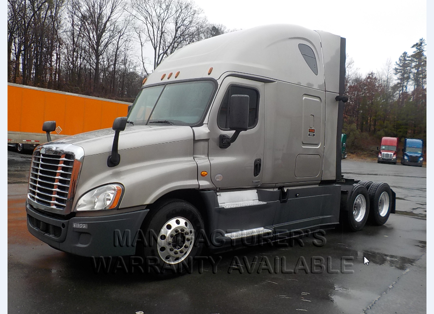 USED 2015 FREIGHTLINER CASCADIA SLEEPER TRUCK #139010