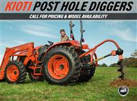 New 2018 Kioti Post Hole Diggers for Sale