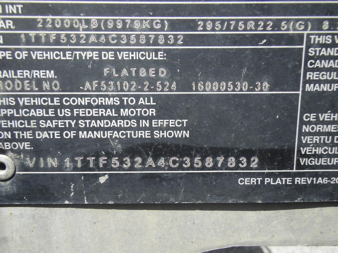 2012 Transcraft 53X102 FLAT